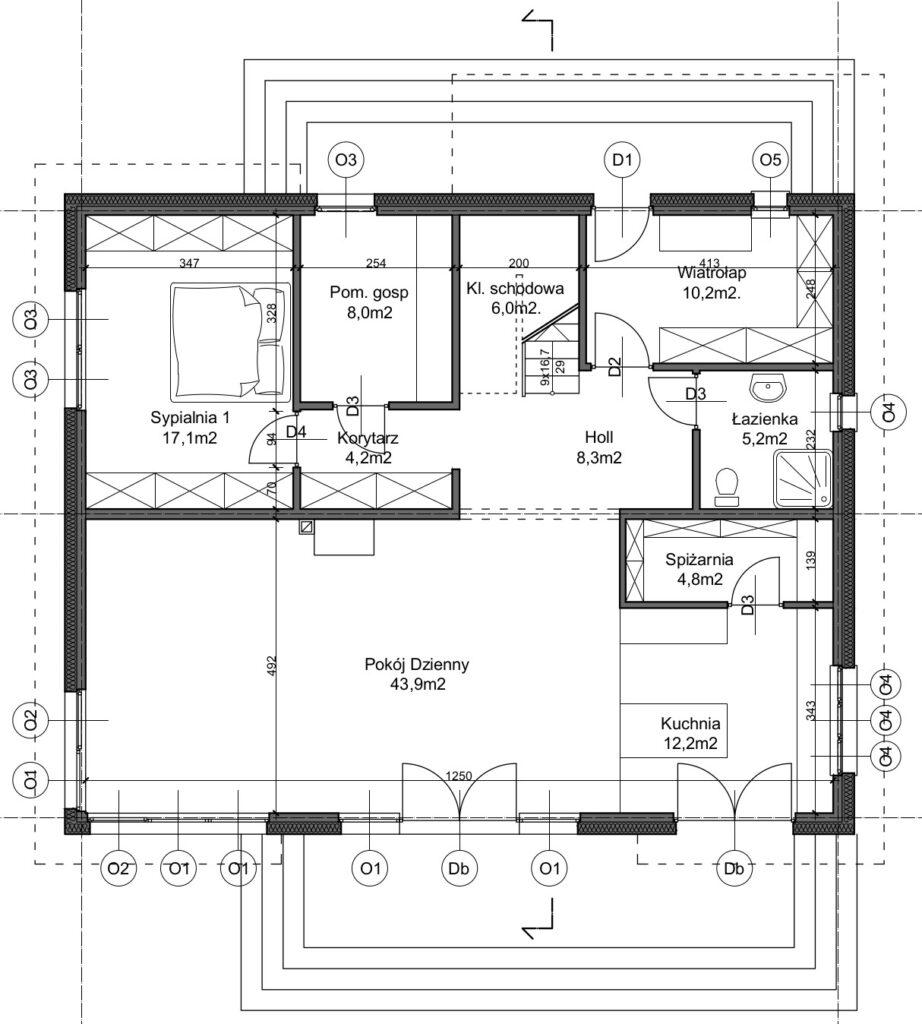 projekt Domu Pod Edukacje Domową